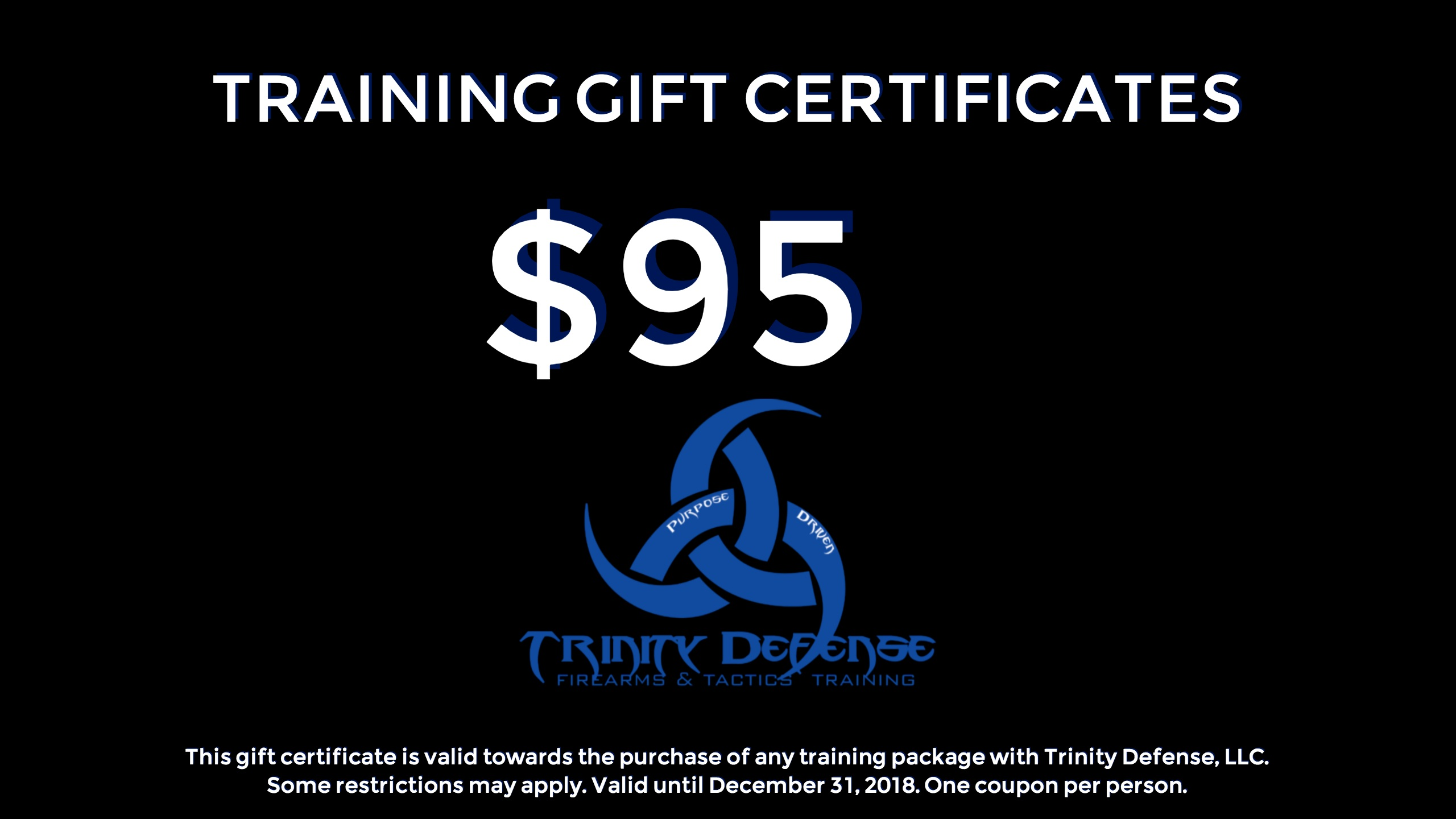 Handgun Course Training Gift Certificate